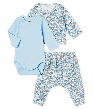 Baby Boys' Ribbed Clothing - 3-piece set Marshmallow white / Multico white