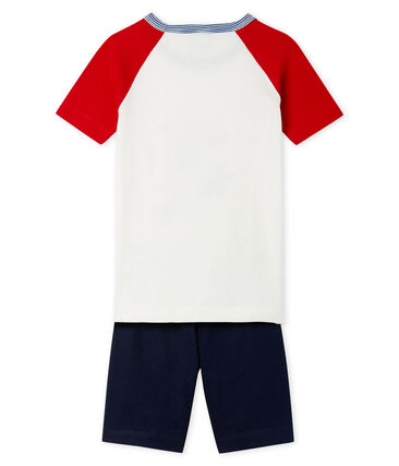 Boys' Snugfit short Pyjamas Smoking blue / Multico white