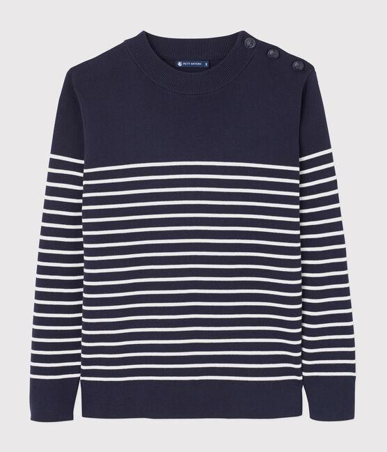 Men's Navy Pullover Smoking blue / Marshmallow white