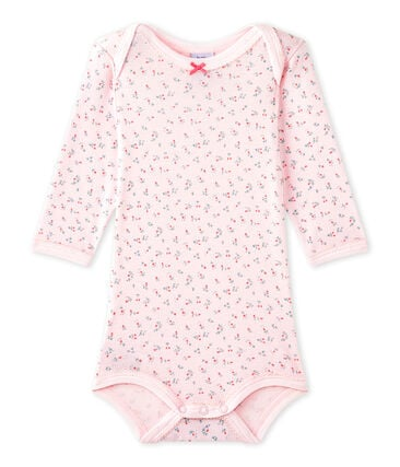 Baby girls' printed long-sleeved bodysuit