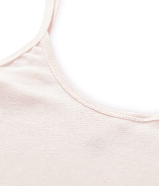 Women's lightweight cotton shirt with straps Fleur pink