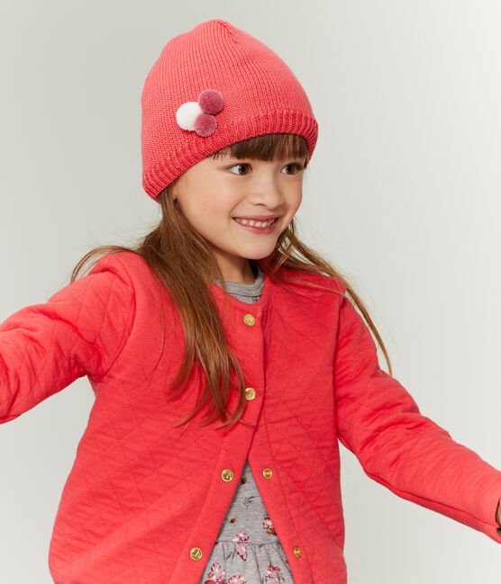 Girls' Woolly Hat Signal red