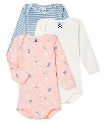 Baby Girls' Long-Sleeved Bodysuit - 3-Piece Set . set