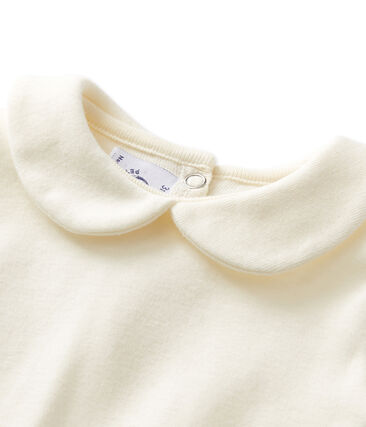 Baby girl's bodysuit with Peter Pan collar