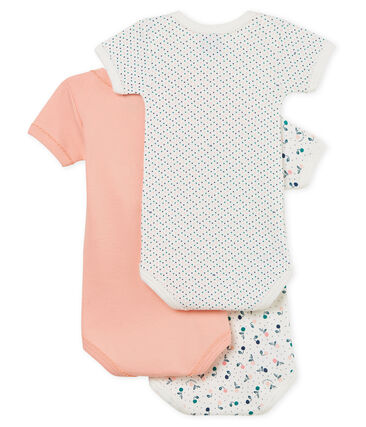 Baby Girls' Short-Sleeved Bodysuit - Set of 3