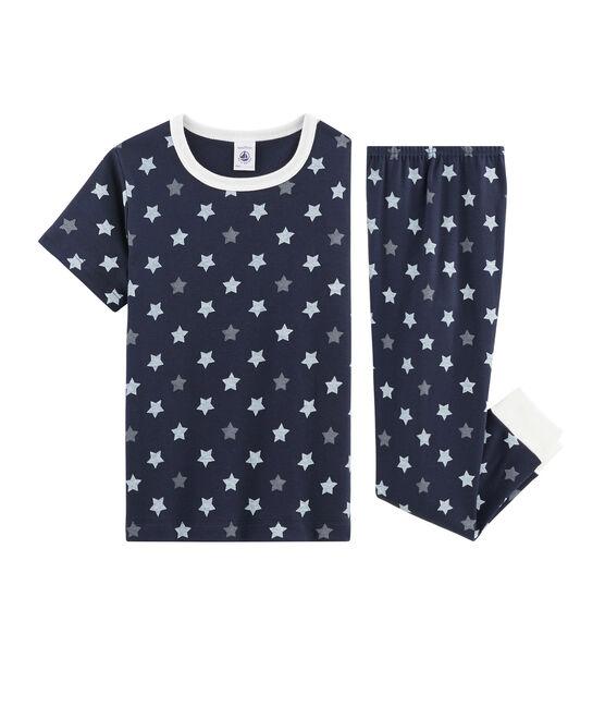 Boys Starry Ribbed Pyjamas Smoking blue / Multico white