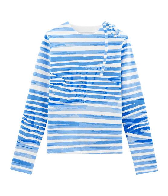Breton Top Marshmallow white / Bleu blue