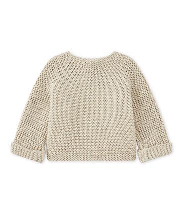 Unisex baby moss stitch cardigan