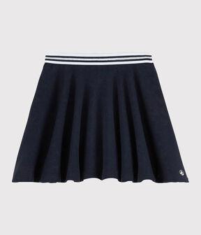 Girls' Knit Skirt Smoking blue