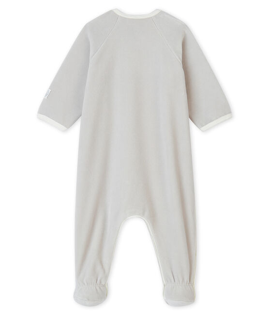 Babies' Velour Cat Sleepsuit