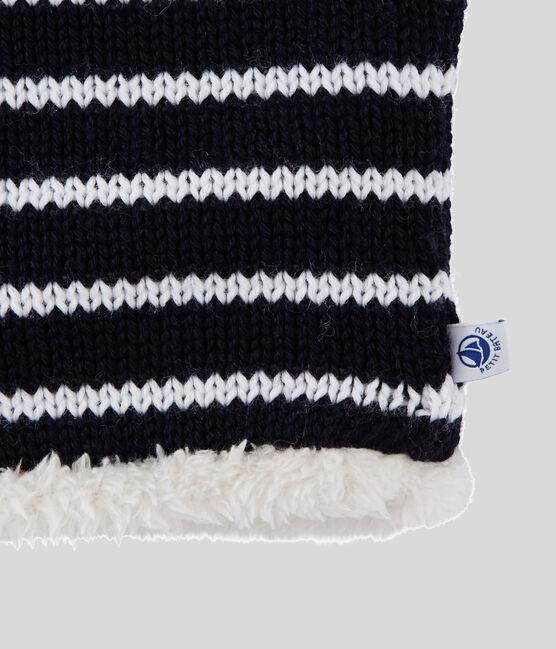 Boys' /Girl's Snood Smoking blue / Marshmallow white