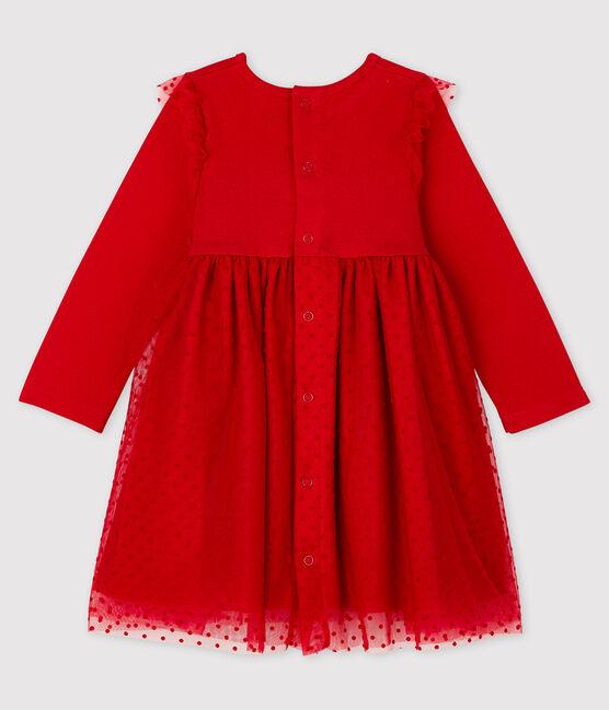 Baby Girls' Long-Sleeved Dress Terkuit red