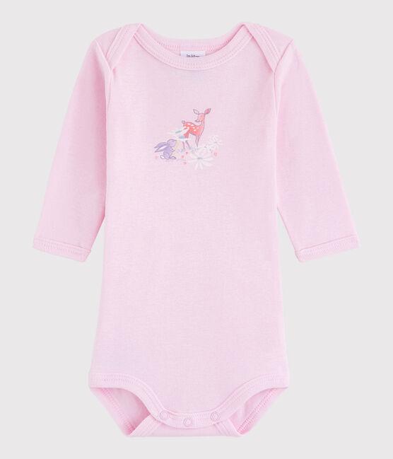 Unisex Babies' Long-Sleeved Bodysuit Doll pink