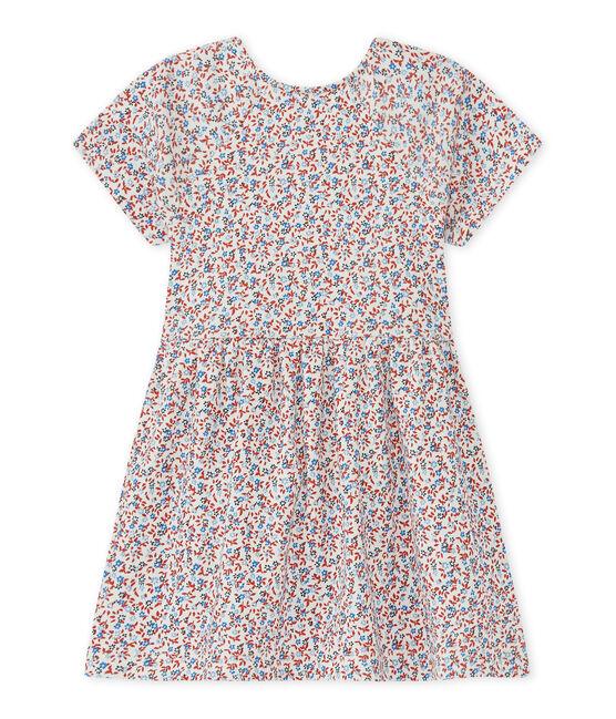 Baby girl's print dress Marshmallow white / Terkuit red