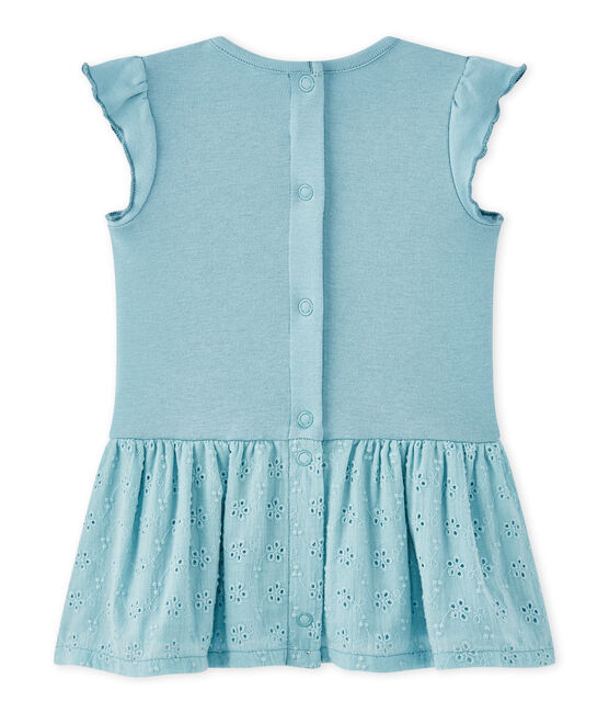 Baby girl's dress with butterfly sleeves Mimi blue