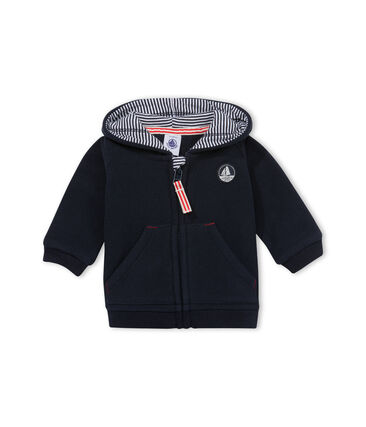 Baby Boys' Zipped Fleece Hoodie Abysse blue