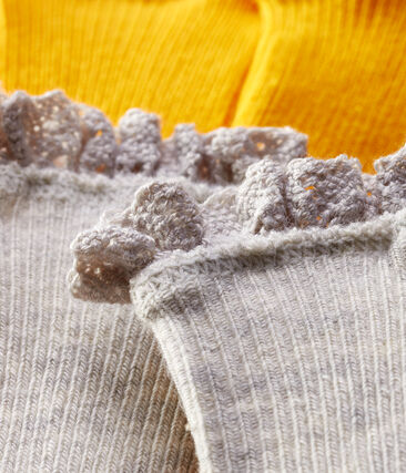 Baby Girls' Lace Socks - 2-Piece Set Boudor yellow