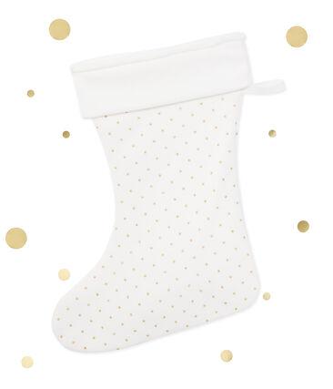 Girl's Christmas stockings Lait white / Or yellow