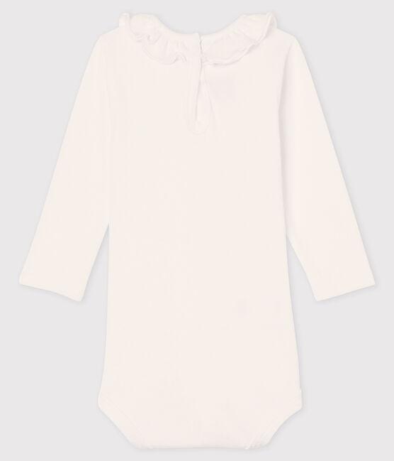 Baby girl's long-sleeved bodysuit Marshmallow white