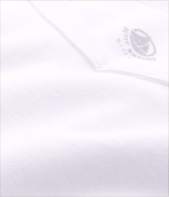 Men's short-sleeved V-neck T-shirt Ecume white