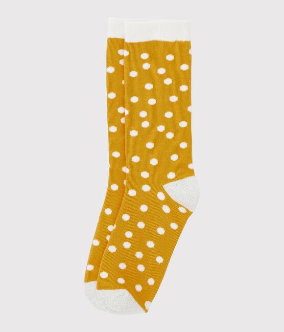Girls' Socks Boudor yellow / Marshmallow white