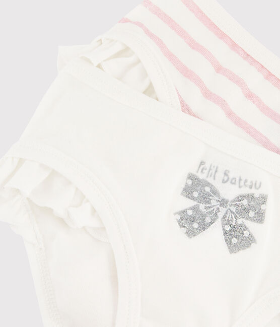 Girls' Glittery Ruffled Knickers - 2-Piece Set . set