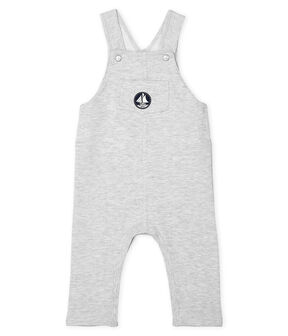 Baby Boys' Plain Long Dungarees Beluga Chine