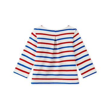 Baby girl's long-sleeved sailor top
