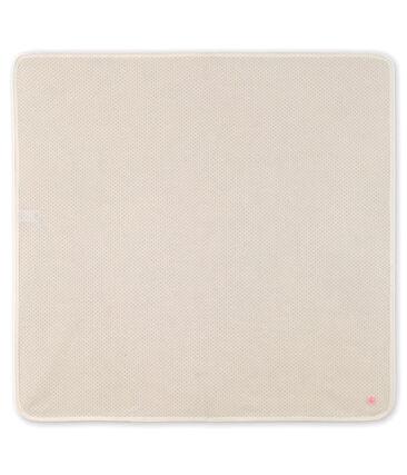 Babies' Ribbed Maternity Blanket Marshmallow white / Gretel pink