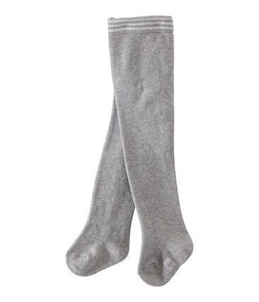 Pair of tights for baby girls Beluga grey