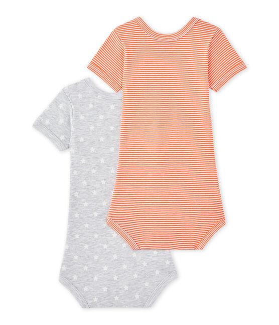 Set of 2 baby boys' short-sleeved bodysuits . set