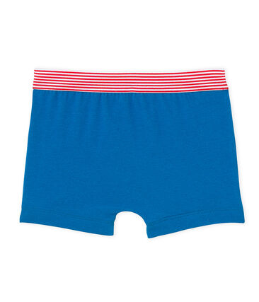 Boy's patterned boxer Mykonos blue