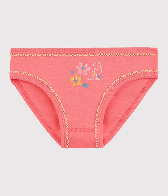 Girls' Cotton Knickers Cupcake pink