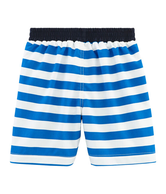 Boys' Beach Shorts Riyadh blue / Marshmallow white
