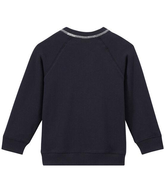 Boy's cotton fleece sweatshirt Smoking blue