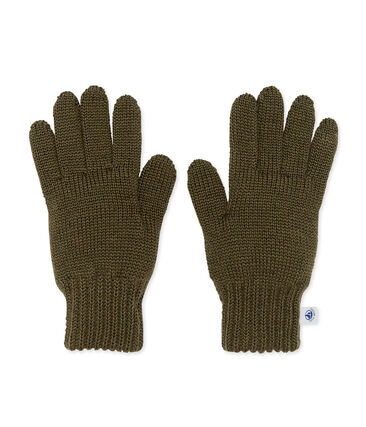 Kids' gloves Crocodile green