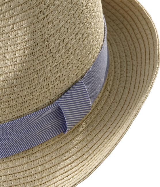 Unisex straw hat for babies Naturel pink