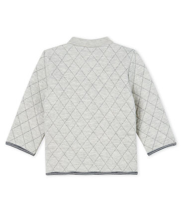 Baby Boys' Quilted Tube Knit Cardigan Beluga grey