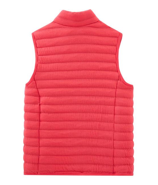 Women's Sleeveless Tube Knit Down Jacket Signal red