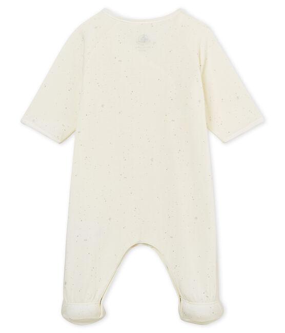 Unisex baby sleepsuit Marshmallow white / Multico white