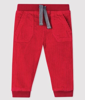 Baby boy's velour trousers Terkuit red