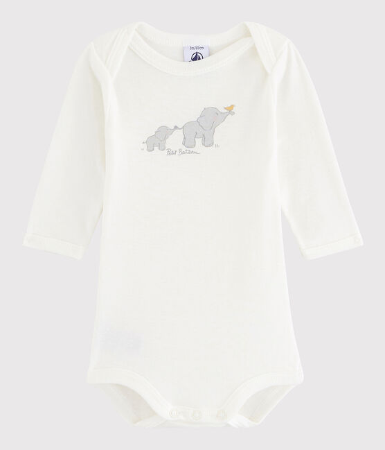 Unisex Babies' Long-Sleeved Bodysuit Lait white