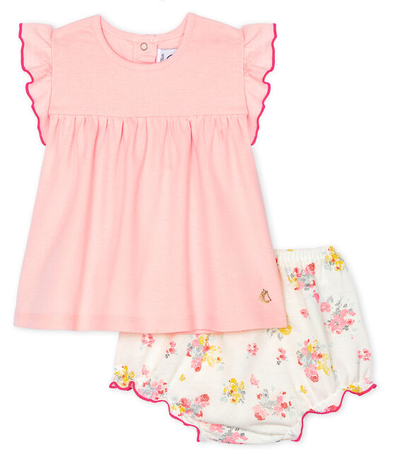 Baby Girls' Clothing - 2-Piece Set Minois pink / Multico white