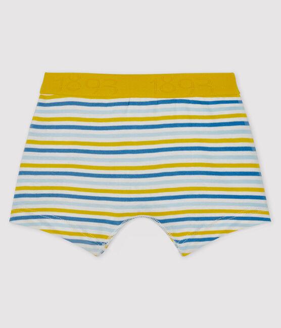 Boys' boxer shorts Marshmallow white / Multico white