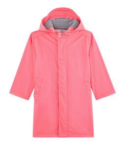 Unisex Children's Waxed Coat Cupcake pink