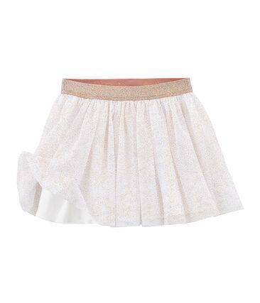 Girls' Skirt Marshmallow white / Copper pink