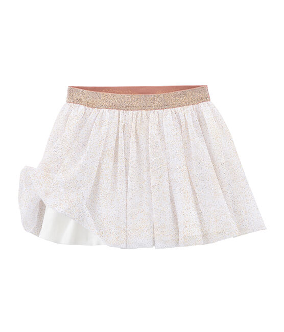 Girls' Skirt Marshmallow white / Copper pink