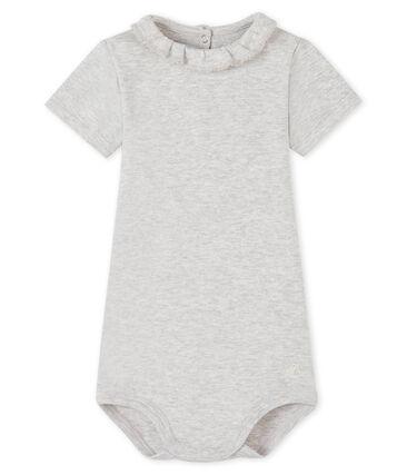 Baby Girls' Dress with Ruff Beluga grey
