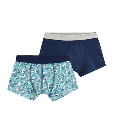 Boys' Stretch Cotton Boxer Shorts - Set of 2