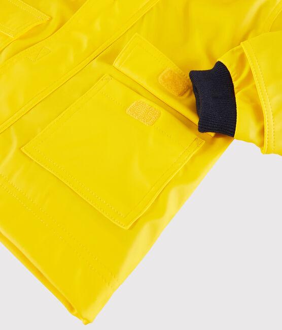 Babies' Unisex Iconic Petit Bateau Raincoat Jaune yellow